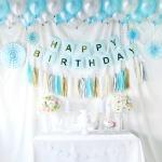 홈파티장식-생일파티 풍선세트(아쿠아블루)