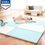 하비비 소리잼잼 4단 폴더매트 블루&아이보리(1세트)