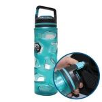락타곤 대용량 휴대용 물통 손잡이 물병 블루 650ml