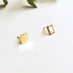 10k gold window earring