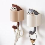 다람쥐 뿅 벽걸이 벽 후크 2color 접착식 고리 걸이