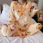 병아리 수면잠옷 여성겨울 극세사 수면 바지 잠옷세트