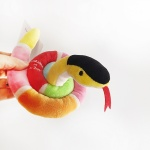 Love Pet Squeaky Snake Pink 바스락삑삑