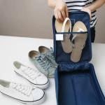여행용 신발 보관 파우치 1개(색상랜덤)