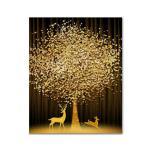 DIY 보석십자수 - 황금 사슴과 나무 BH47 (40x50)