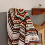 레트로 플라워 블랭킷 - 코바늘 만다라 패턴 뜨개질