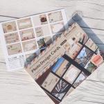 [Nakabayashi] 앨범꾸미기 데코 엽서-나카바야시 포토 디자인 카드 26매 HF495-4 여행