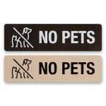 안내표지 표지판 표시판 알림판 표찰 - NO PET 우드