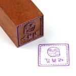 [주문제작]도장대추목 장환봉 정사각 대형