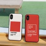 아이폰8 living coral 카드케이스