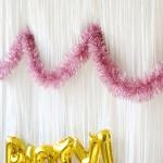 샤틴 모루장식 2m - 핑크