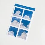 밍키트 화이트코튼 투명 스티커