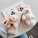 아이폰se2 xr xs max 8 7+ 뽀글이 곰인형 양털 케이스