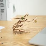 [범고래 헬리콥터] DIY 어린이 코딩 조립 나무 장난감