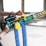 전동 스펀지 기관총 연속발사 게틀링 삼각대포함