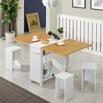 [랜선할인]폴딩 테이블 식탁(멤브레인)+의자4개 KD475