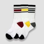 [3PACK] 1507 3COLOR STRIPE ATHLETIC SOCKS