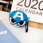 에어팟프로케이스 히어로 캐릭터 실리콘 키링 421캡틴
