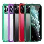 아이폰SE2 8 7플러스 컬러라인 강화유리 하드 케이스