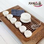 D4 덕화자기 개완 다기세트 반월 G11-2
