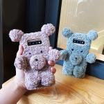 갤럭시노트9 귀여운 곰돌이 인형 뽀글이 털 폰케이스