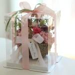 시들지않는 프리저브드 내츄럴 장미꽃바구니 선물