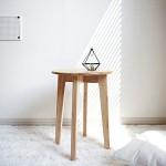 벤트리 원목 원형 사이드 테이블 (미니테이블) L