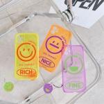 아이폰se2 8 7+ 스마일 형광 컬러 실리콘 케이스/키링