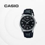 카시오 남성 남자 가죽 빈티지 손목시계 MTP-V001L-1B
