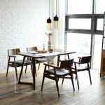치토 고무나무 원목 4인 식탁 테이블 1400
