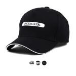 브림 라인배색 레터 볼캡 벨크로 모자 ET711