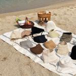 여름 레이스 무지 벙거지 썬캡 바캉스 모자 8종 모음