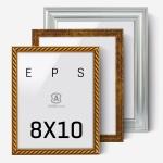 에이모노 8x10 액자 - 골드,실버