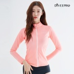 다이비프로 집업 래쉬가드 우먼 RZW-02 핑크 루즈 핏