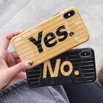 아이폰 yes no 캐리어 범퍼 하드 커플 휴대폰 케이스