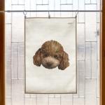 강아지 초상화 패브릭 포스터 / 가리개 커튼