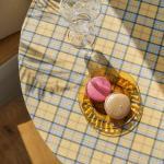 포홈 빈티지 체크 테이블보 (6인용) 2color