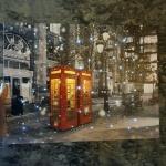 런던의 눈오는밤 LED 터치 액자