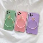 아이폰11 promax xr xs 캔디 컬러 핸드링 젤리 케이스