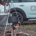 캠프파이어 캠핑 모닥불 삼각대