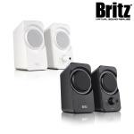 브리츠 2채널 스테레오 북쉘프 스피커 BZ-560S (50.8mm 풀레인지 유닛 / 패시브 라디에이터 / 통합형 전원다이얼)