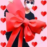 DIY 초대형 리본 (레드) 인간화환 이벤트 웨딩카 장식