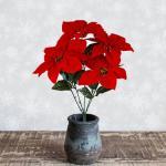 포인세티아 조화 크리스마스 겨울 시들지않는 꽃 2종
