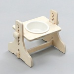 힐링타임 높이조절 원목식탁 - 1구 (도자기화이트)