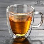 더블글라스 이중 유리컵 이중 유리 뚜껑 머그컵