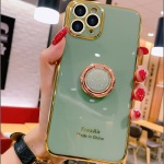 아이폰11 XR X XSMAX 골드라인 핑거링 실리콘 케이스