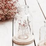컨츄리 유리화병 2P세트(L) 카페 매장 생화 꽃병 장식