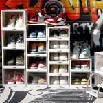 튼튼한 신발 수납함 슬라이딩 슈즈 박스 신발장