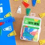 40p 삼각 클립/화방납품용 학교납품용 문구점판매