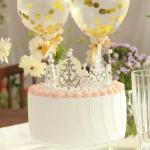 실버 티아라 왕관 3type 케이크 토퍼 웨딩 생일 파티